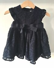 mamas and papas Navy Lace Baby Girl 6-9 Months Dress