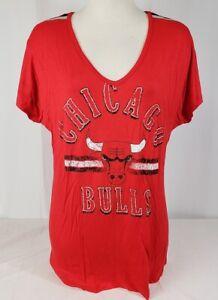 Brand New Women's NBA Fanatics Chicago Bulls Short Sleeve Shirt