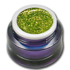 5ml Chrome Sparkle Glitter UV Gel Zitronella Gelb  Farbgel Colorgel #01541-12