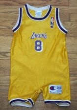 Vintage Kobe Bryant Champion Lakers Baby Jersey Infant 12Months NBA Snapsuit