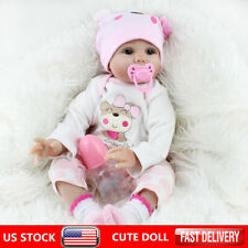 Reborn Dolls Real Baby Doll Realistic Silicone Vinyl Handmade Gifts Girl Doll 16