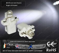 LED B8.3D Twist Lock White Dashboard Cluster Speedo Instrument Gauge Light Bulbs