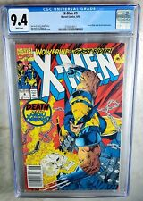 X-Men #9 NEWSSTAND - Marvel 1992 CGC 9.4 NM White Pages - Comic K0006