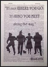 Wizard Of Oz Citation Vintage Dictionary Imprimé Art Mural Image Dorothée