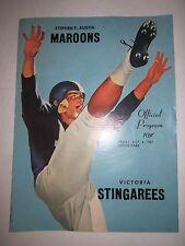 1957 STEPHEN F. AUSTIN VS VICTORIA STINGAREES FOOTBALL OFFICIAL PROGRAM-TUB BP