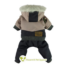 Fitwarm Waterproof Winter Dog Clothes Snowsuit Pet Coat Fleece Jumpsuit Hoodies