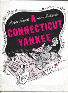 """Rodgers & Hart  """"A Connecticut Yankee""""  Souvenir Program  1943  Vivienne Segal"""