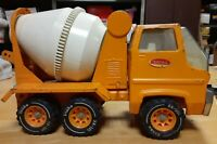1970 'S TONKA CEMENT MIXER TRUCK ORANGE PRESSED STEEL 14 INCHES LONG GREAT COLOR