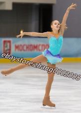 Ice skating dress.Lovely Blue Figure Skating Dance Baton Twirling Costume