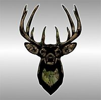 Deer Hunting Camo Buck Hunt USA Country Decal Sticker Jeep Chevy Ford Toyota
