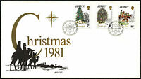 Jersey 1981 Christmas FDC First Day Cover #C42318