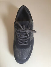 Girls Ladies Pentagon Grey Trainers Silver Sparkle Size UK5-6 By London Rag