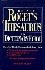 The New roget's thesaurus in dictionary form thumb-indexed