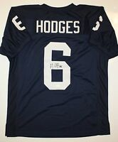 Gerald Hodges Autographed Navy Blue College Style Jersey- JSA Authenticated