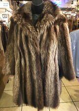 Raccoon Fur coat ladies  XL vintage (#780)