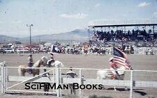 KODACHROME Red Border Slide Rodeo Old Cars Trucks Trailers Cowboys Horses 1950s!