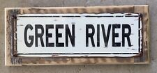 Green River Colorado Utah Rafting Kayak Canoe Vintage Framed Metal Sign Decor