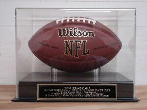Tom Brady Football Display Case W/ A New England Patriots Engraved Nameplate