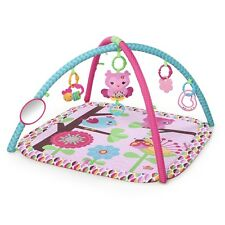 Baby Toy Charming Chirps Activity Gym Pink Girl Mat Area Floor Teether New