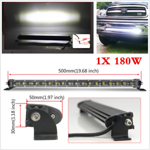 1p 6D 20inch 180W Slim CREE Single Row LED Light Bar Spot Beam Driving SUV Truck