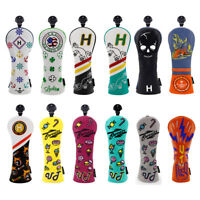 Golf Headcover Hybrid UT Cover W NO. Tag for Taylormade Callaway Titleist Ping