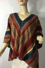 Ralph Lauren Womens Sweater XS Small Poncho Indian Blanket Cashmere Alpaca Linen