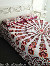 Indian Hippie Bohemian Queen Bed Sheet Mandala Tapestry Bedding Throw Art Decor
