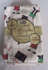 "4 pc MICROFIBER KITCHEN TOWELS SET (ultra absorbent) (16"" x 19""), FAT CHEFS, BH"