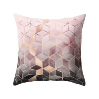 Sofa Cushion Cover Geometric Printed Polyester Throw Pillow Cases Decor