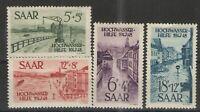 Germany -  Saar 1948 Sc# B61-B64 MH F -  Flood relief Semi postals