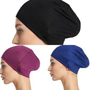 (PACK OF 3) CHEMO CAP COTTON / VISCOSE SLEEP CAP HAT HAIR LOSS HEAD COVE