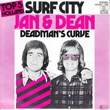 "JAN & DEAN  Surf City PICTURE SLEEVE 7"" 45 rpm record + juke box title strip NEW"