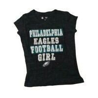 Philadelphia Eagles Football Girl 6 6X Team Apparel NFL Heather Gray Tee Shirt