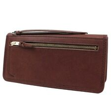 New YOSHIDA LUMBER WALLET 301-04029 Brown EMS tracking From Japan