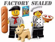 NEW LEGO 71018 Minifigures Series 17 Connoisseur & Gourmet Chef LOT packs bags