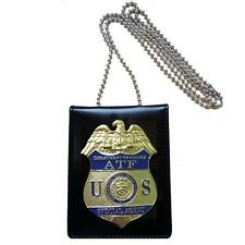 US ATF Special Agent Officer Police Badge Cards Office ID Card Holder
