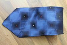 KR1205 Enrico Mori Krawatte 100% Seide Dunkel Blau Schwarz