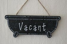 Decorative Handcrafted Wooden White on Black ENGAGED / VACANT Sign