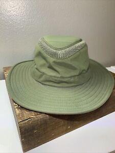Tilley The Airflo Hat Olive Green Size 7 1/8 Sun Safari Nylon Travel LTM6 CLEAN