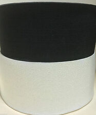 WOVEN ELASTIC~PREMIUM QUALITY~3 INCH 75MM WIDE~BLACK OR WHITE~VARIOUS LENGTHS~