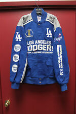 New MLB Los Angeles Dodgers Champions NASCAR style twill cotton jacket men's L