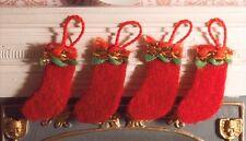 Dollhouse Miniatures Felt Christmas Stocking ,Decorations