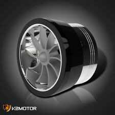 Black Supercharger Air Intake Turbo Fan Fuel Gas Saver