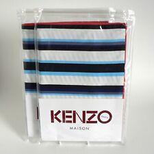 """KENZO MAISON - STRIPY - BLUE - PAIR PILLOWCASES 20""""X30"""" 50X75CM RRP £90 STRIPEY"""