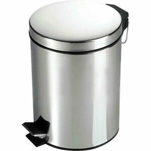 5L  Stainless Steel Kitchen Bathroom Rubbish Waste Dust Pedal Bin