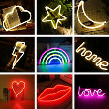 Rainbow Love Neon Sign LED Night Colorful Lights Wall Lamp For Kid Children Room