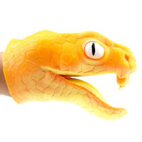 PVC souple TPR PVC serpent à main marionnettes tête d'animal marionnettes OP