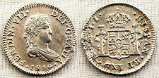 Spain-1/2 real. FERNANDO VII. 1819 JJ. Mexico. EBC/XF. Plata 1,6 g. NAUFRAGIO