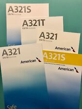 5 AMERICAN AIRLINES SAFETY CARDS --AIRBUS 321