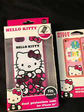 Hello Kitty Iphone 5c Dual Layer Protection Case + Anti Glare Screen Protector